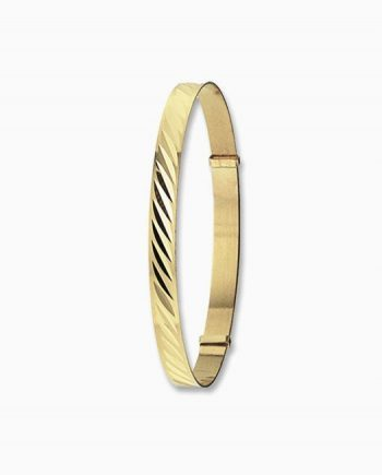 9ct Gold Baby Expandable Identity Bangle
