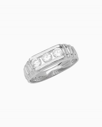 9ct White Gold Children's CZ Ring