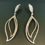 18 carat whiteyellow Gold Diamond drop earrings gold diamond earringshellip