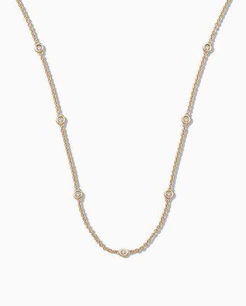 18ct Gold Diamond Chain