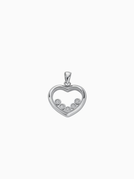 9ct white gold diamond heart pendant g mantella 9ct white gold diamond heart pendant aloadofball Images