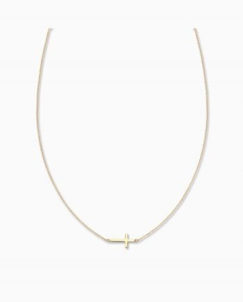 9ct Gold Cross Chain Necklace