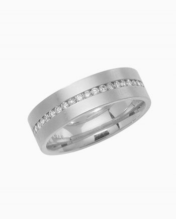 9ct White Gold Diamond Wedding Half Eternity Ring