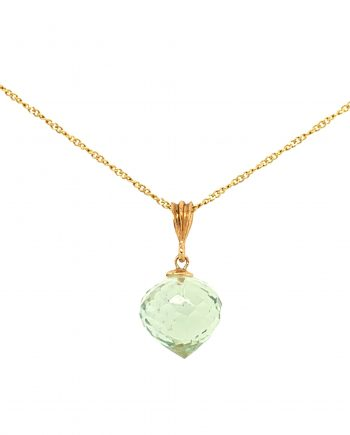 9ct Gold Chain with Green Amethyst