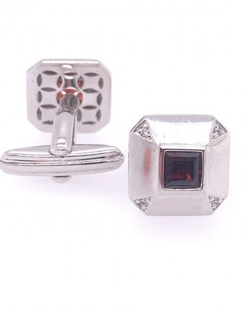 Garnet and Diamond cufflinks