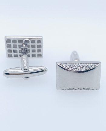 Silver CZ cufflinks