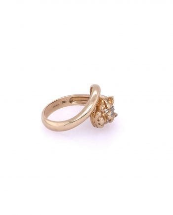 9ct Gold and diamond Leopard Ring