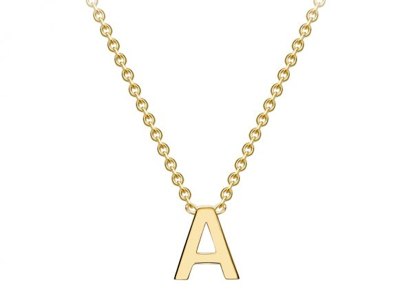 Gold A Initial Necklace | G Mantella Jewellers London