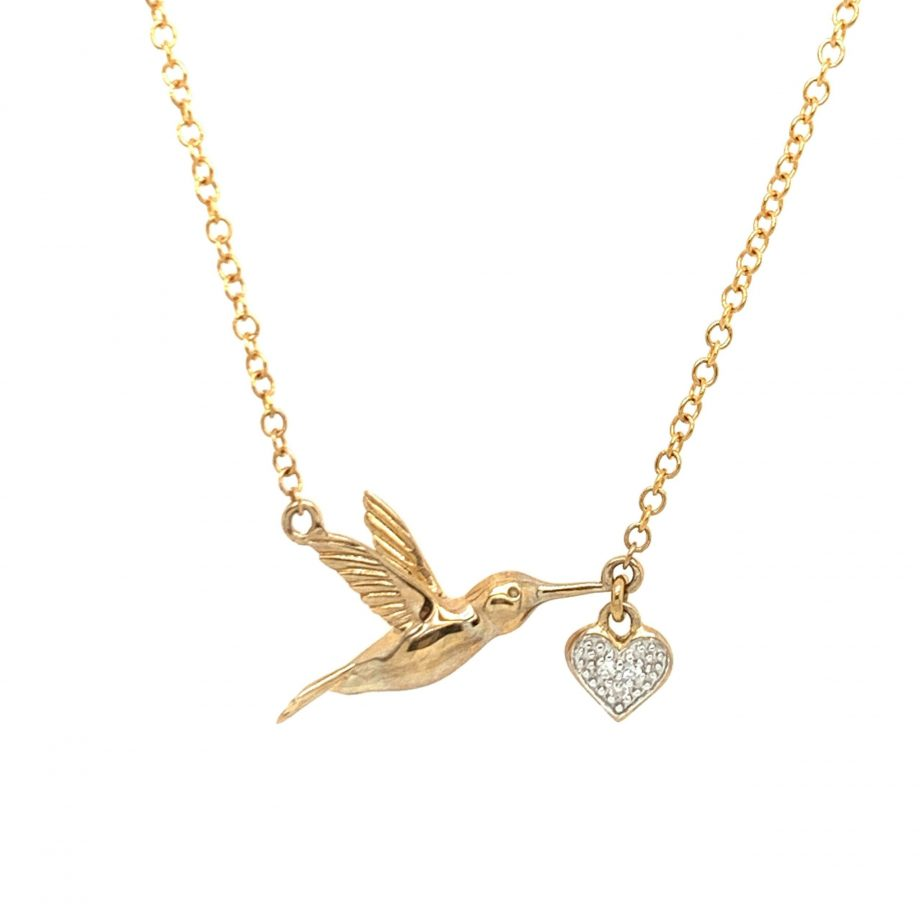 Gold Bird Necklace | G Mantella Jewellers London