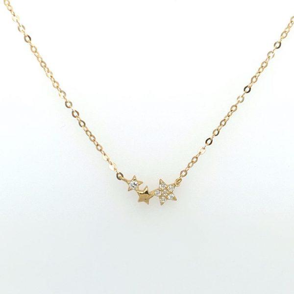 Gold Stars Necklace | G Mantella Jewellers London