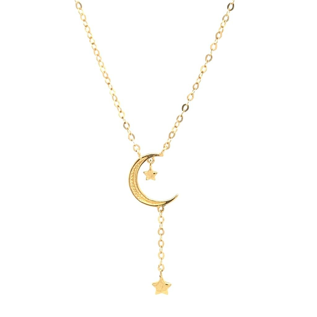 Gold Moon Necklace | G Mantella Jewellers London