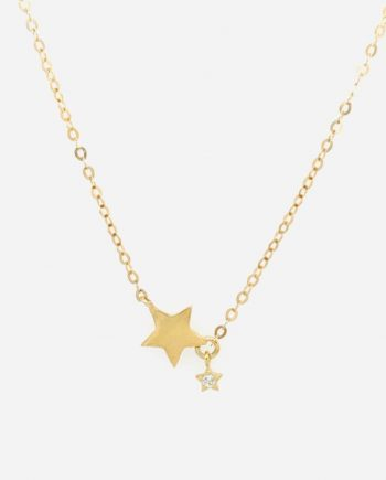 9ct Gold and CZ Stars necklace
