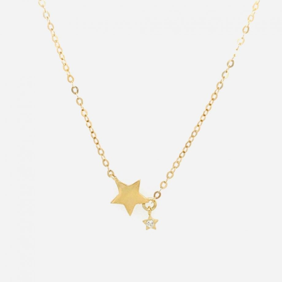 Gold Star Necklace   G Mantella Jewellers London