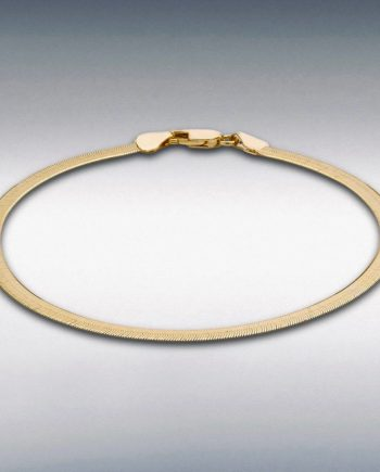 9ct yellow Gold Herringbone bracelet