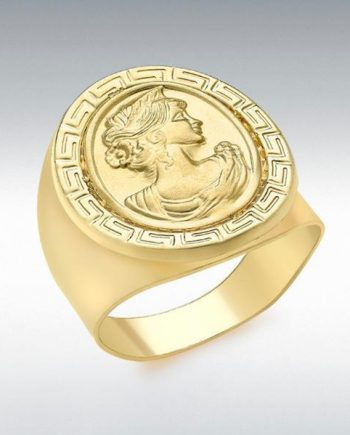 9ct Yellow Oval Greek-Cameo