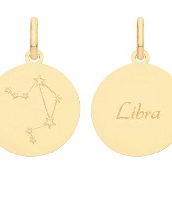 9ct Gold Constellation Libra pendant