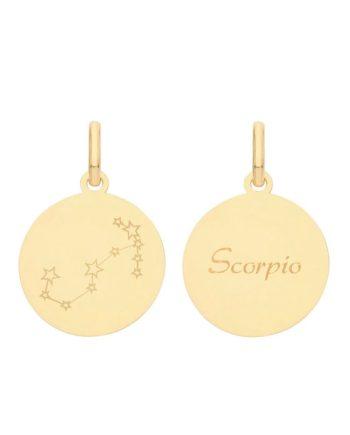 9ct Gold Constellation Scorpio pendant